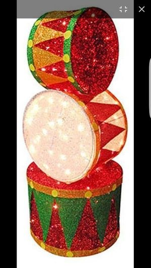 2 Sylvania 4ft tall lit Christmas drums for Sale in Phoenix, AZ