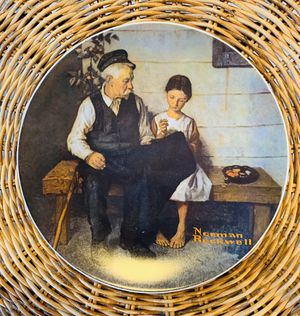 """""""THE LIGHTHOUSE KEEPER'S DAUGHTER"""" Porcelain Plate Norman Rockwell for Sale in Aurora, IL"""