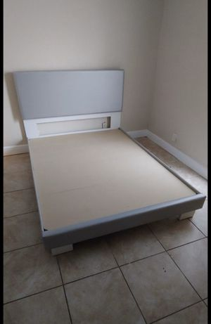 Queen gray bed frames new in the box with the mattress FREE DELIVERY and installation 260$ for Sale in Davie, FL