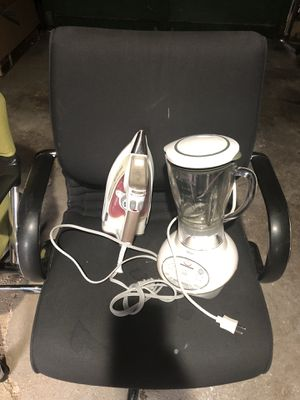 Iron, designer chair and blender for Sale in Monroeville, PA