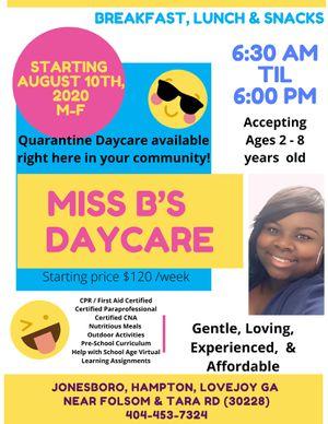 Miss B's In-Home Daycare for Sale in Hampton, GA