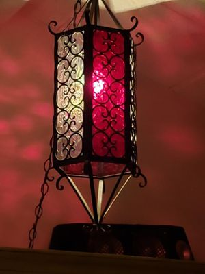 Wrought iorn and glass Lamp for Sale in Federal Way, WA