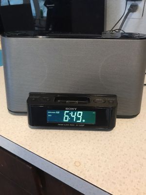SONY FM/AM clock radio with charging port for Sale in Seattle, WA