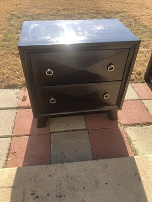 Small solid wood dresser 28W x 17D x 28.5 tall - 2 working drawers for Sale in Fort Worth, TX