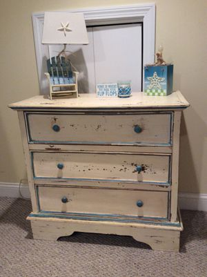 SALE! Beach Shabby Table, Dresser, TV Console, Cabinet, Storage for Sale in Marshfield, MA