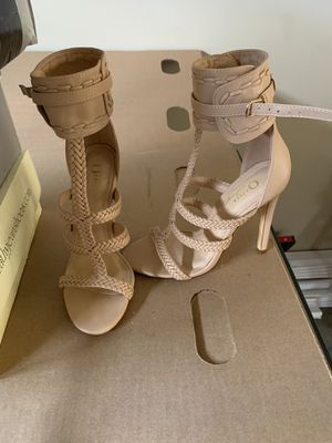 Tan high heels size 6 for Sale in Industry, CA