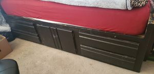 Oak Twin Captain's Bed for Sale in Victorville, CA