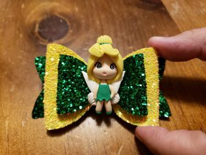 Tinkerbell Inspired Hair Bow for Sale in Grand Prairie, TX