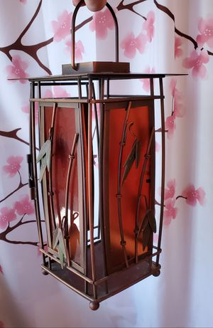 Lantern - Metal & Colored glass (opens to add light/candle) for Sale in Roseville, MI