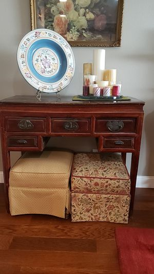 Early 1900's Antique Chinese Writers Table. This is a wonderful Conversation piece, would fit anywhere in a home. for Sale in Hillsboro, OR