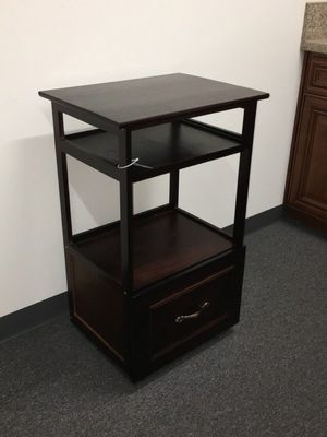 Brand new computer desk stand with pullout keyboard tray and storage drawer and wheels 21x16x34 inches for Sale in Montebello, CA