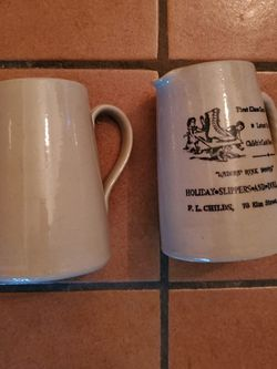 Pearson of Chesterfield, Made in England pint pitcher and pint mug for Sale in Olympia,  WA