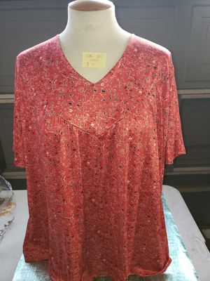 XL red vneck blouse shirt woman for Sale in Bakersfield, CA