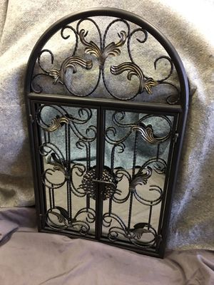 Mirror in iron frame with doors for Sale in Franklin, TN