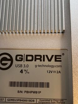 G-Technology G-Drive USB 3.0 4Tb for Sale in East Rockaway,  NY