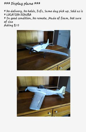 Display airplane $5 for Sale in Dinuba, CA