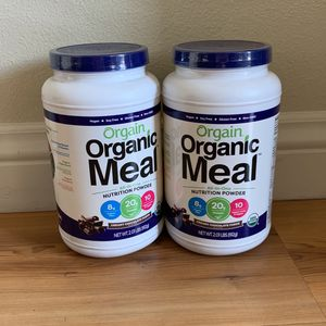 2 Orgain Organic Plant Based Meal Replacement Powder, Creamy Chocolate Fudge for Sale in Irvine, CA