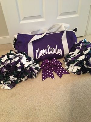 Duffle bag with Pom poms and hair bow for Sale in Midlothian, VA