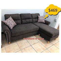Sectional Compact Sofa New In Box 📦 🙌🏻 Qualify To Buy Now & Pay In 90 Days ! for Sale in Commerce,  CA