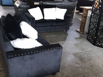 Beautiful Black Love Seat And Sofa Set! Take It Home Today! $49 Down!! for Sale in Dallas,  TX