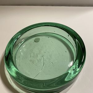 Large Green Recycled Glass Saucer for Sale in Chandler, AZ
