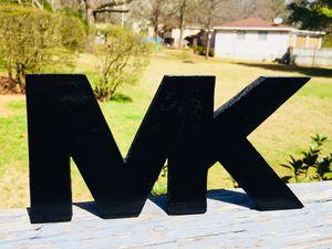 MK Wood Sign w/hanger for Sale in Center Point, AL