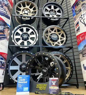 18x9 MONKEY RIMS AND TIRES for Sale in Phoenix, AZ