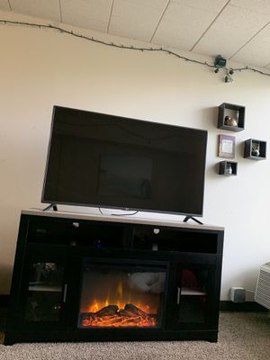 Electric Fireplace tv stand with or without tv for Sale in Gibsonia, PA