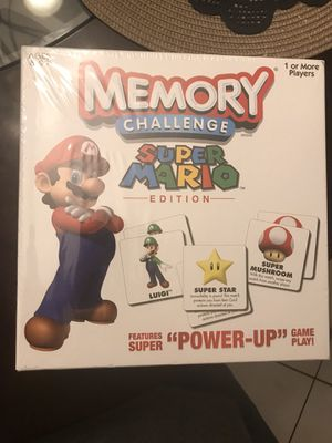 Mario memory challenge board game brand new for Sale in West Palm Beach, FL