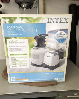 Intex 2800 GPH Above Ground Pool Sand Filter Pump for Sale in St. Petersburg, FL