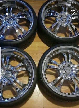 Universal 24 inch rims aluminium chrome for Sale in New York, NY