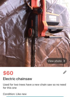 Electric chainsaw for Sale in Chesterfield, NJ