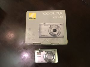 Nikon Coolpix S3600 20.1 MP Digital Camera with 8x Zoom for Sale in Washington, DC