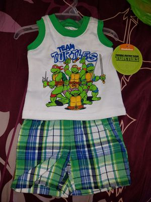 Newborn boys swim shorts and ninja turtles outfit for Sale in Portland, OR