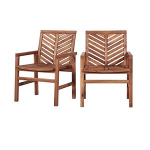 SoOutdoor Wood Patio Chairs - Set of 2 - Brown 3A-3031 for Sale in St. Louis, MO