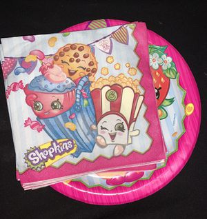 Shopkins plates and napkins for Sale in Houston, TX