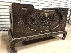 Antique Asian Hand Carved Wood Chest Rare Cabinet for Sale in Philadelphia, PA