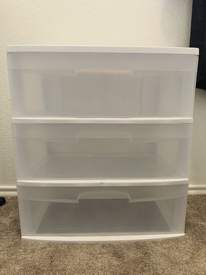 Plastic Drawer Cart for Sale in Houston, TX