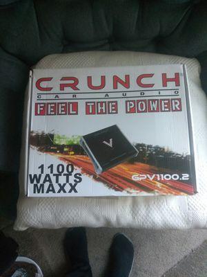 New crunch 1100 W amplifier for Sale in Oakland, CA