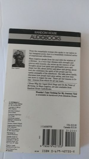 MAYA ANGELOU CASSETTE: WOULDNT TAKE NOTHING FOR MY JOURNEY for Sale in Charlotte, NC