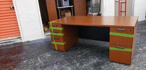 Walnut colored Desk, 2 Bookshelves, Filing Cabinet for Sale in West Palm Beach, FL