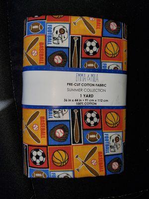 Sports cotton fabric for Sale in Dixon, MO