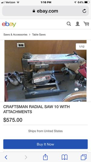 Craftsman 10 in saw for Sale in Mountain View, CA