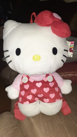 Hello Kitty plush backpack hearts 13 inch for Sale in Houston, TX