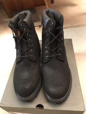 "Men's Timberland Classic 6"" Premium Waterproof Boots - Black Color Size 10.5W Wide for Sale in Vernon Hills, IL"