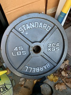 45lbs Standard Barbell Plates (4) for Sale in Danvers, MA