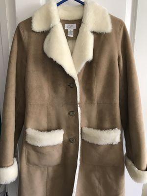 Brown leather-fur woman coat for Sale in Ashburn, VA