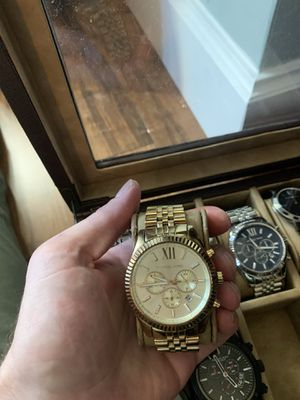 Mk 8281 Michael Kors men's watch gold for Sale in Fort Lauderdale, FL