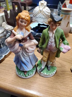 Vintage FBIA Bisque Man and Woman Figurines for Sale in Erie, PA