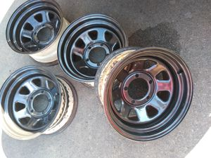 15x8 rims 5x4.5 or 5x114 Jeep toyotas Nissan Ford for Sale in Manassas, VA